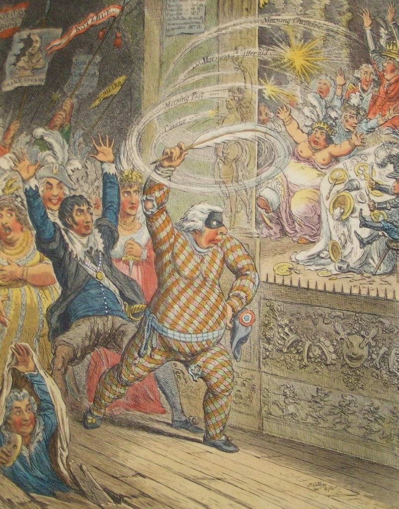Gillray Blowing up the Pic Nics